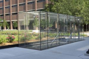 engineered all glass vestibule