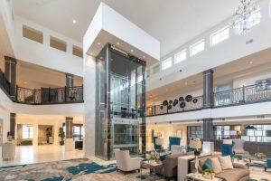 all glass elevator shaft
